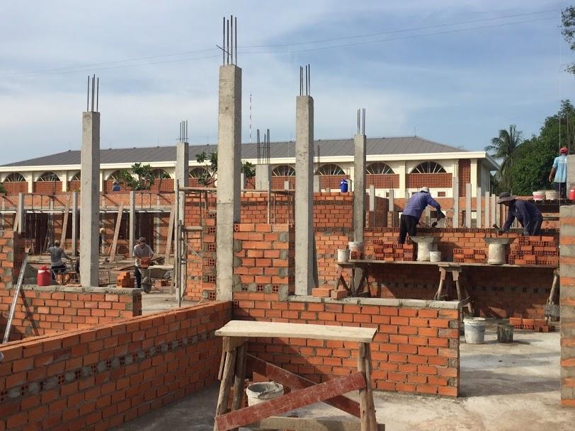 Tiến độ xây Nhà Nghỉ dưỡng Linh mục Miền Ninh Thuận