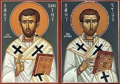 26/01 – Thứ Ba. Thánh Timôthêô và thánh Titô, Giám mục.