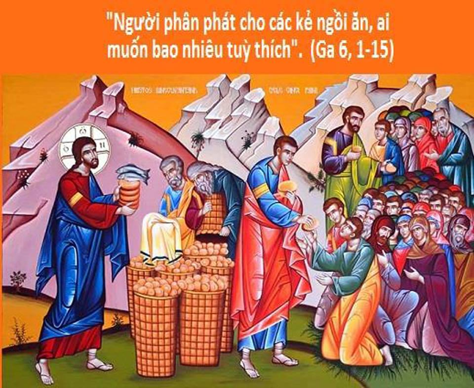 Suy niệm Tin Mừng Chúa Nhật XVII Thường Niên năm B - Lm Antôn Nguyễn Cao Siêu